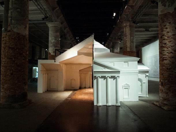 Mold of Palladio's Villa Rotunda by FAT architecture