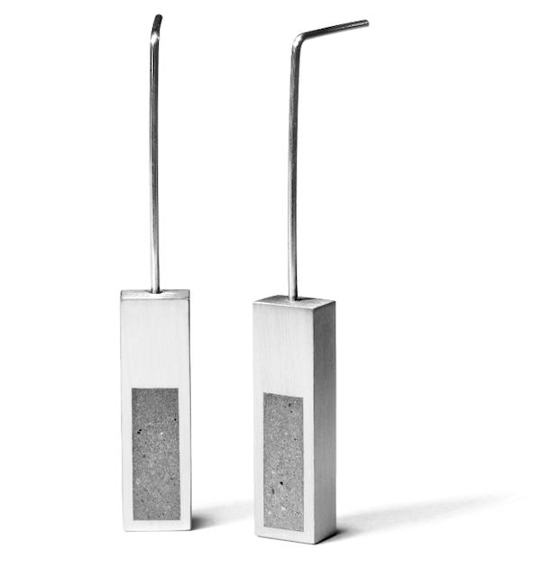 modern Konzuk concrete earrings