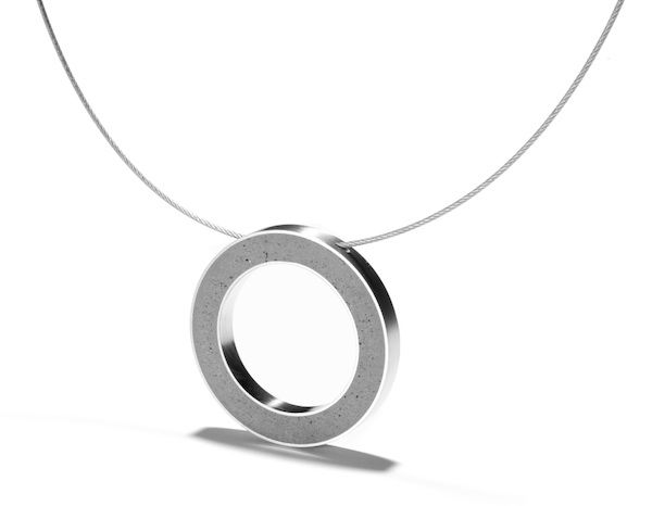 Konzuk modern concrete necklace