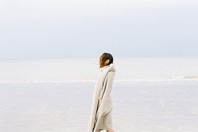 Photograph of woman walking