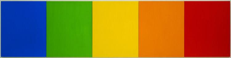 Blue Green Yellow Orange Red by Ellsworth Kelly