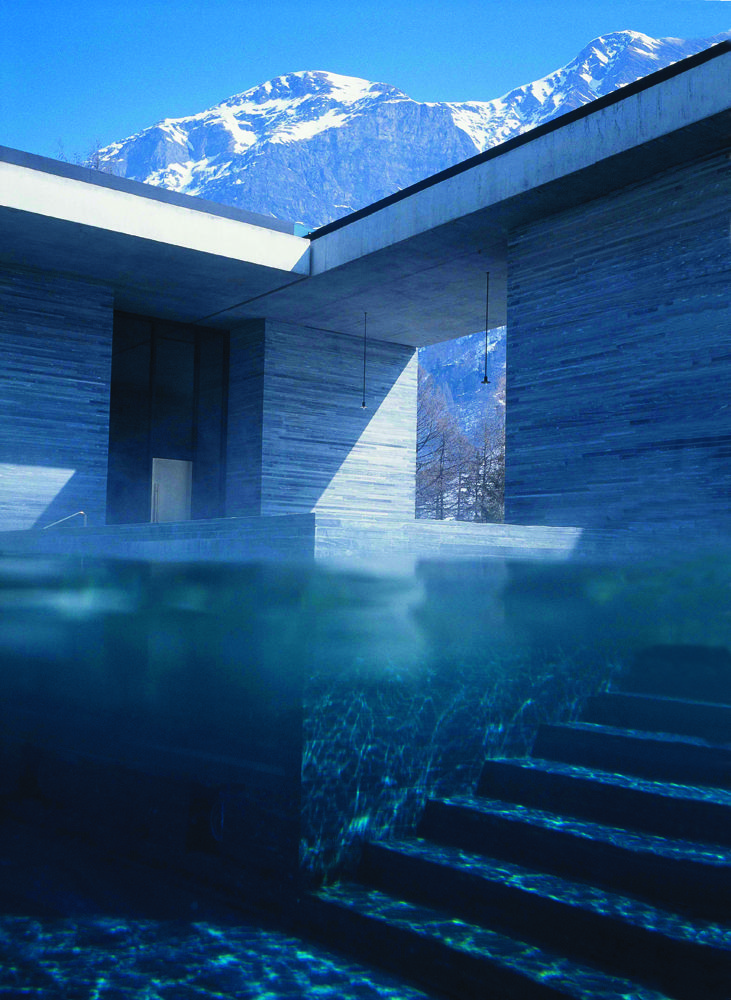 Therme Vals Spa in Switzerland designed by Peter Zumthor