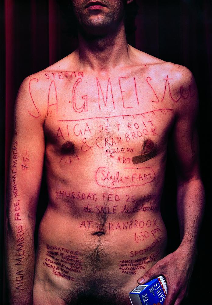Stefan Sagmeister AIGA Detroit Poster