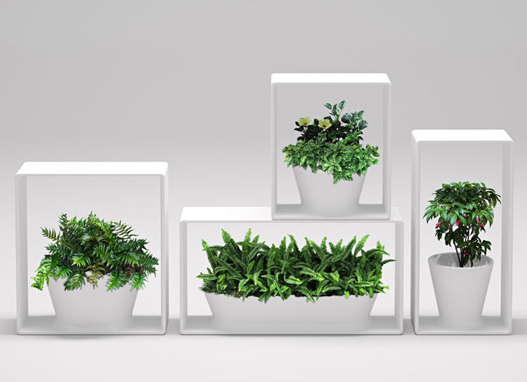 Gardening pots by Nendo for Bisazza Bagno