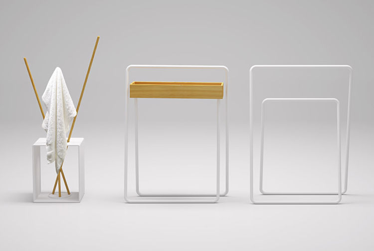 Towel Rack and Valet by Nendo for Bisazza Bagno