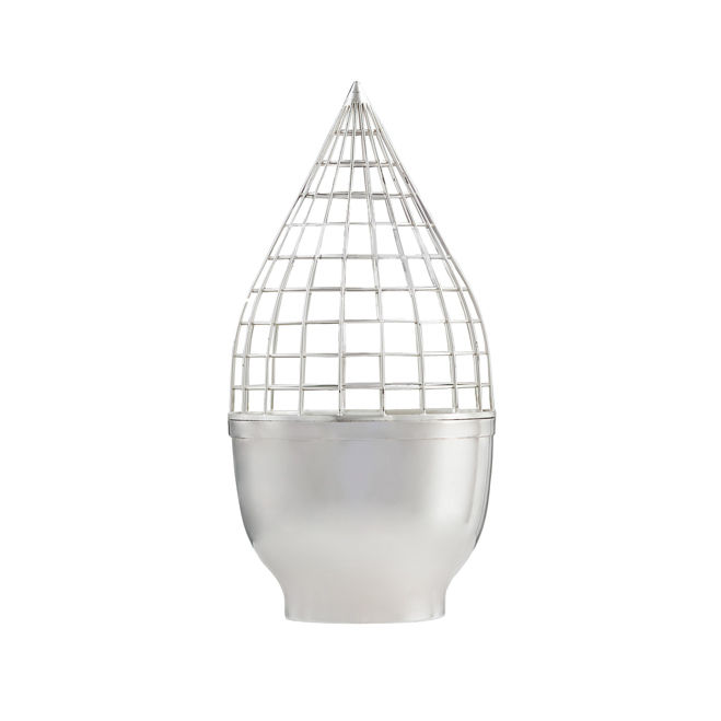 Silver Grid Vase by Gaia & Gino