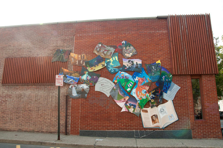 Wall mural in Beacon, New York