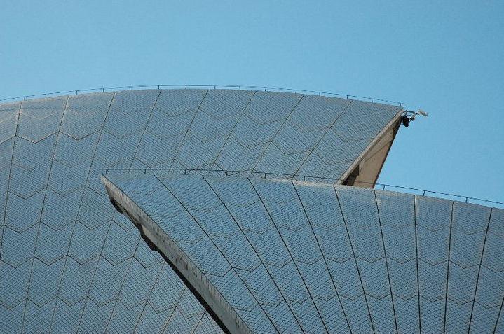 Textured sail detail Sydney Opera House