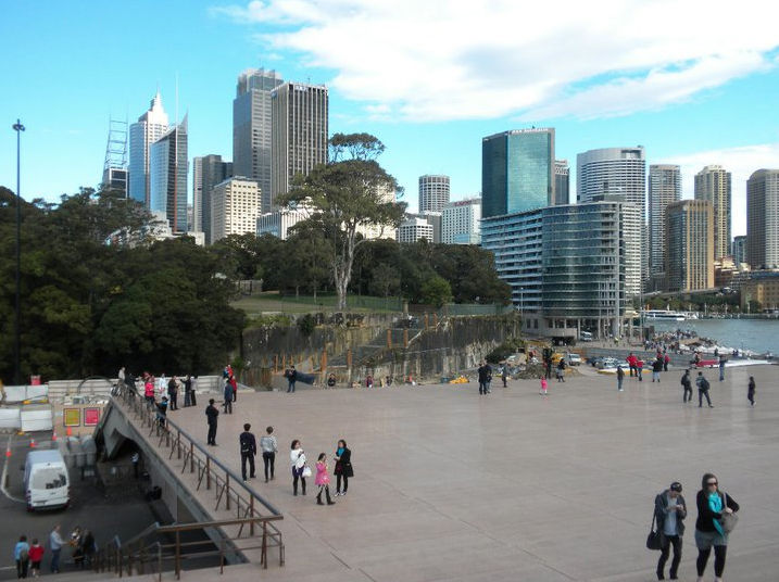 The Opera House Bennelong Point on the edge of the Royal Botanic Gardens