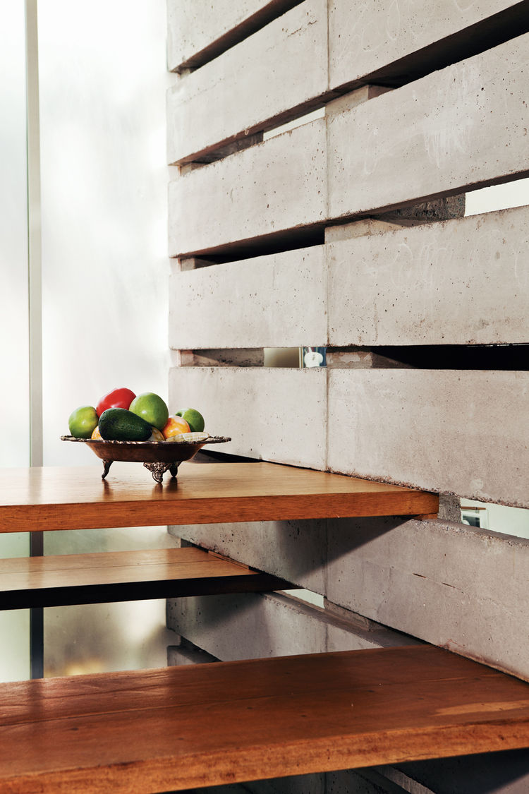 Modern built-in table and benches