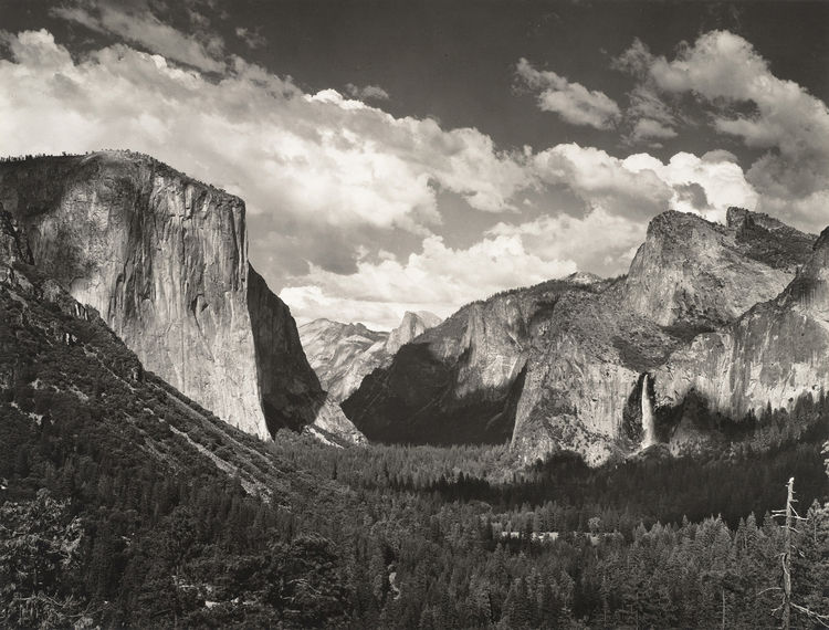 Clouds, from Tunnel Overlook, Yosemite National Park, California by Ansel Adams