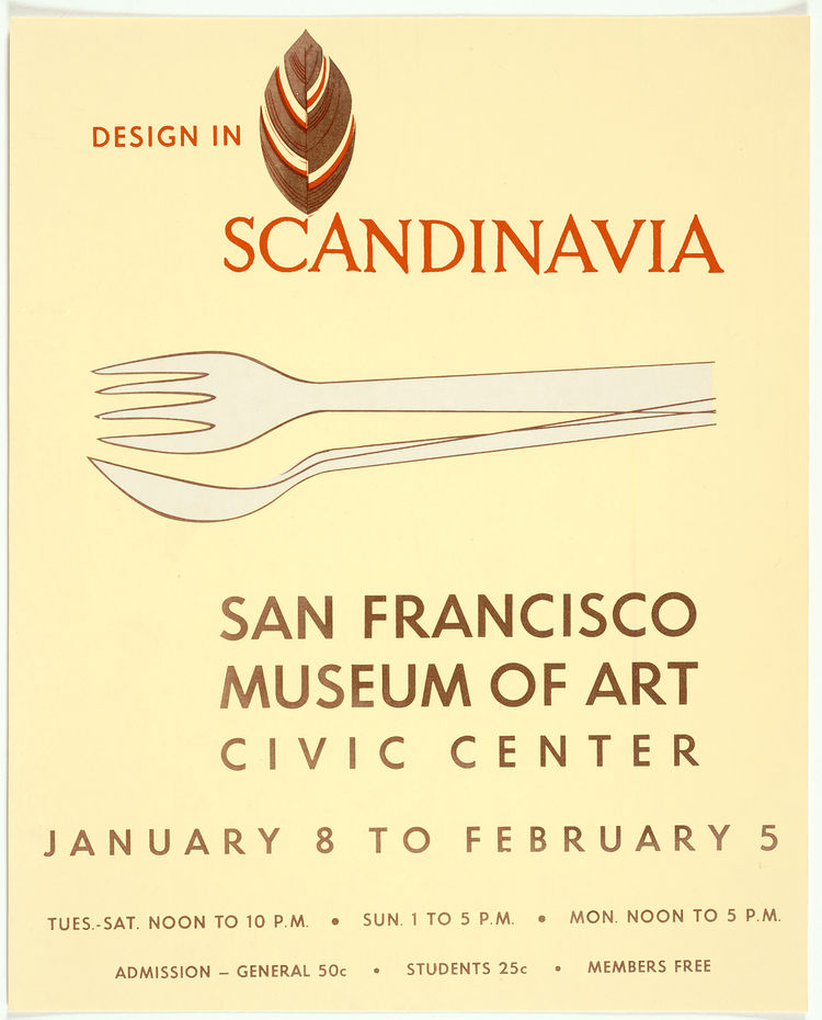 Design in Scandinavia exhibition poster by Tapio Wirkkala