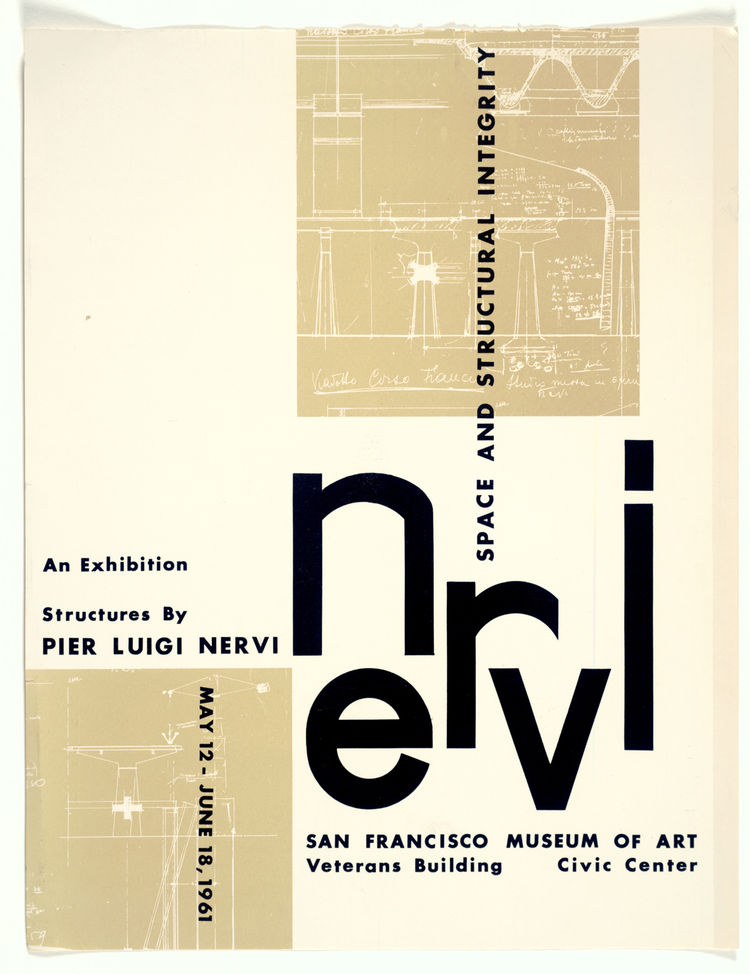 Pier Luigi Nervi: Space and Structural Integrity exhibition poster