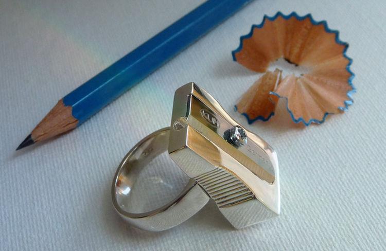 Pencil Sharpener Ring by Monika Wyndham