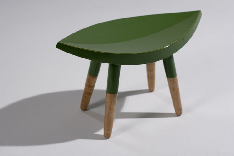 Leafy green stool by Atelier Takagi