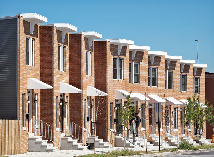 Baltimore Habitat for Humanity prefab row house