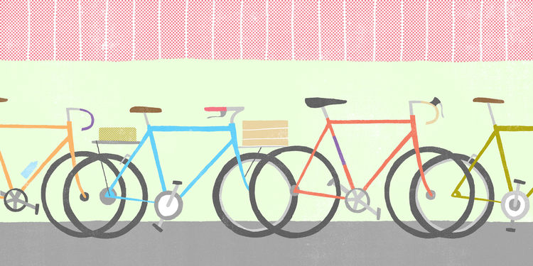 Bike illustration by Andrew Holder