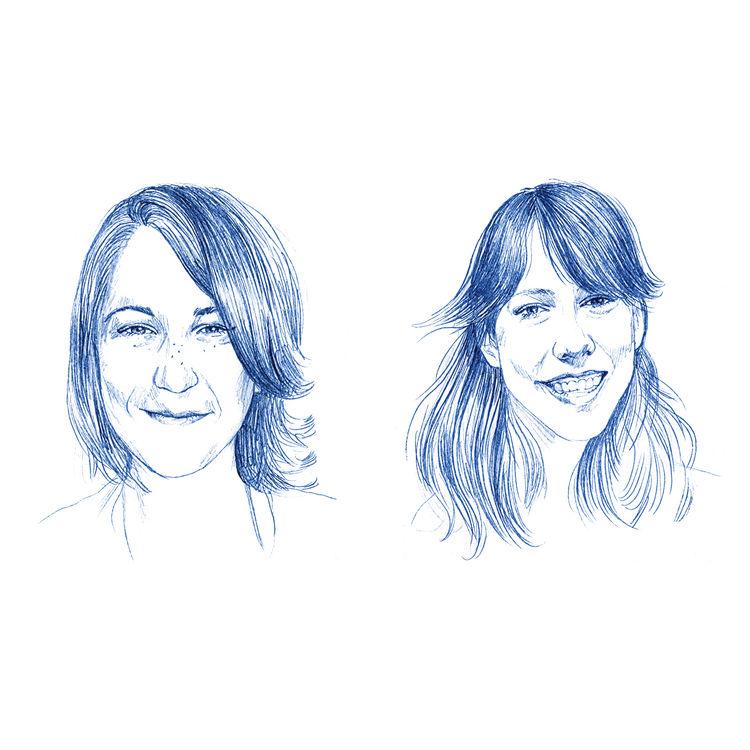 Megan McNally and Whitney Yax illustration by Elisabeth Moch
