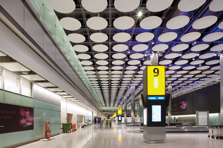 Heathrow International Airport interior