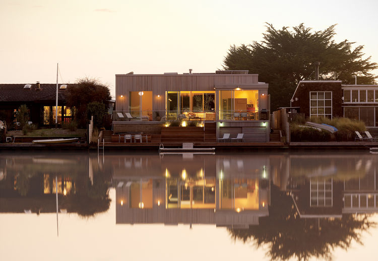 California, waterfront, small, lagoon