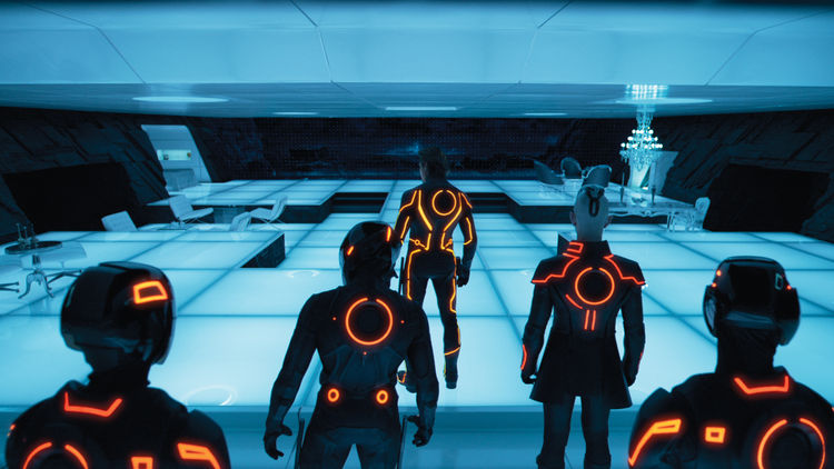 Tron movie set design