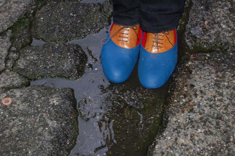 Blue and orange Camper shoes