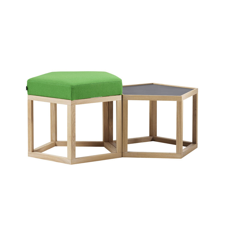 Meet pouffe and table by A2