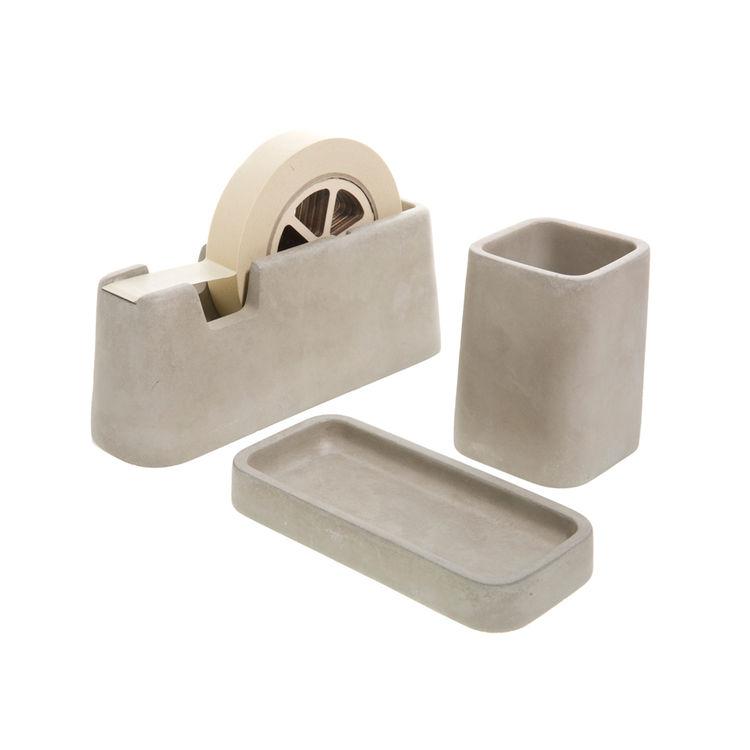 Concrete office accessories