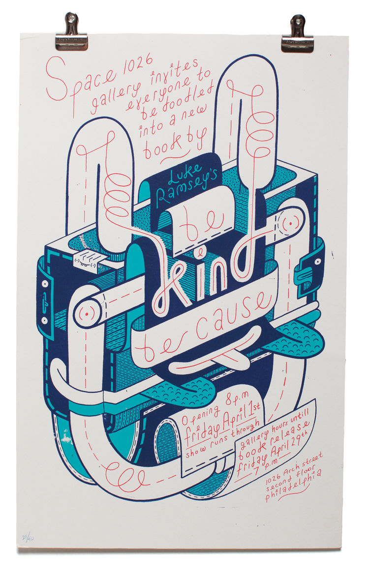 Be Kind Be Cause print by Luke Ramsey