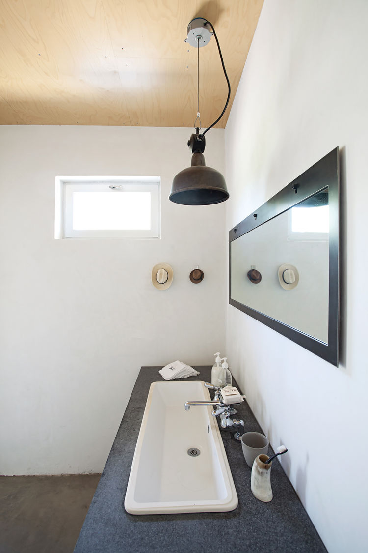 Designer Barbara Hill's bathroom with vanity countertop