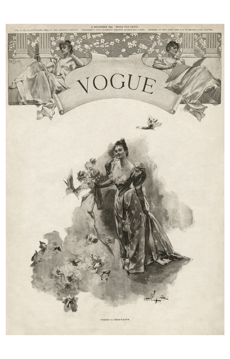Vogue magazine's first cover