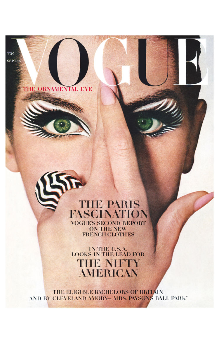 Vintage Vogue magazine cover shot by Irving Penn
