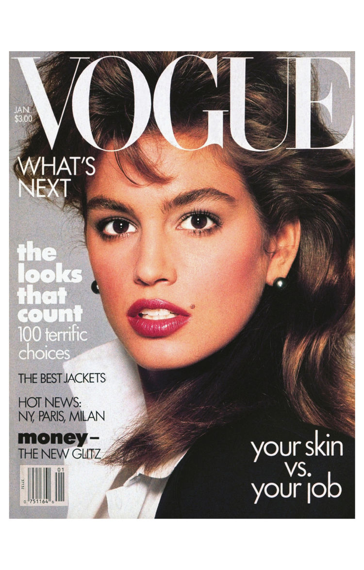 Vogue Magazine cover featuring Cindy Crawford