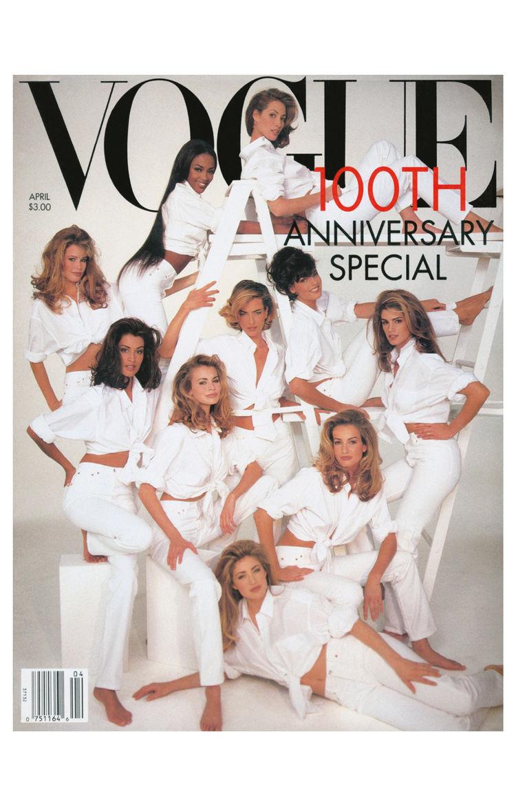 100th anniversary cover of Vogue magazine
