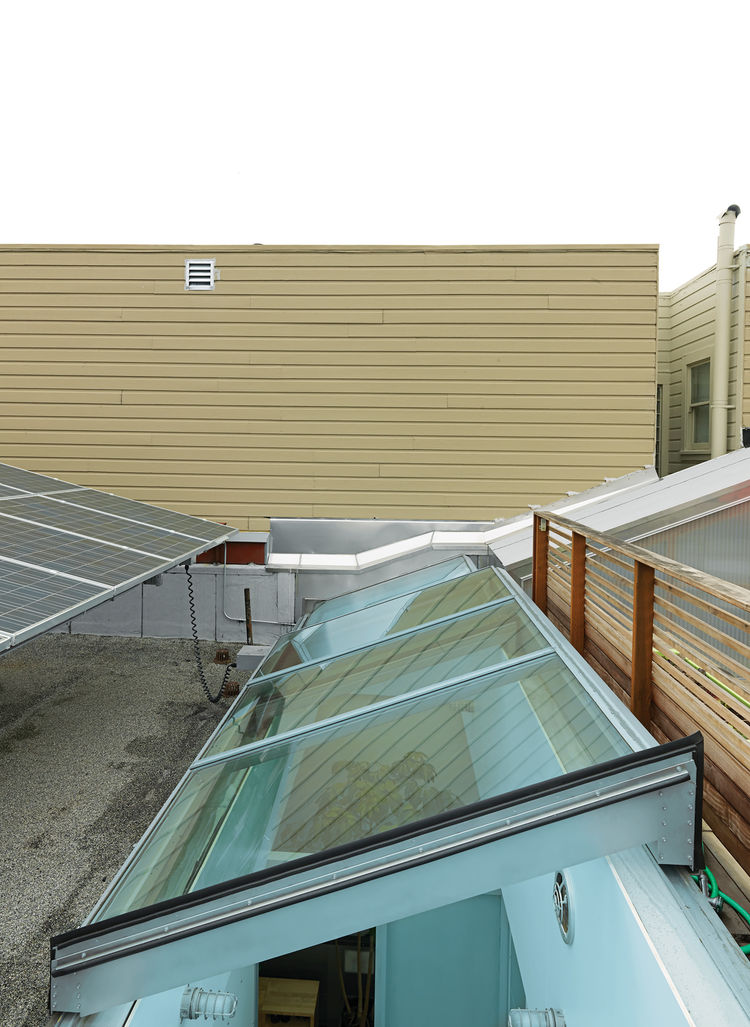 Custom Rollamatic retractable skylight