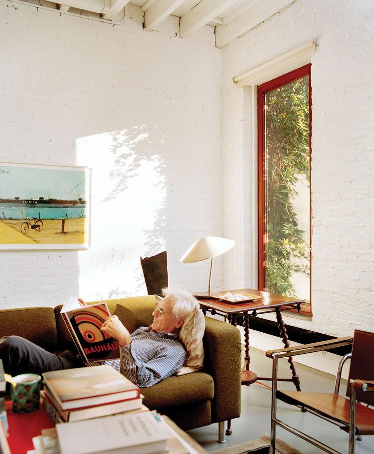 Architect Bill Ryall at home in Harlem, New York