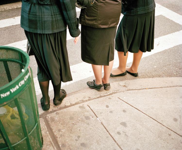 New York City sidewalk view