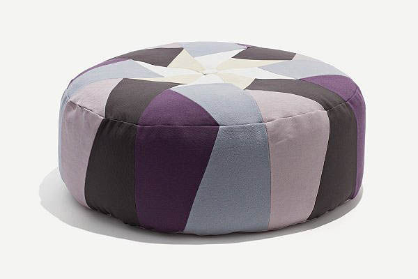 Purple pouffe by Lene B. Hansen