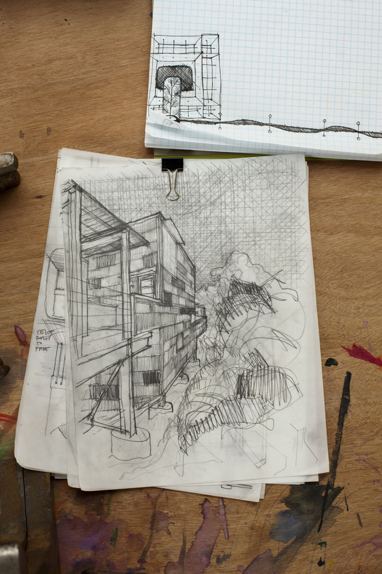 Modern Treehouse sketch