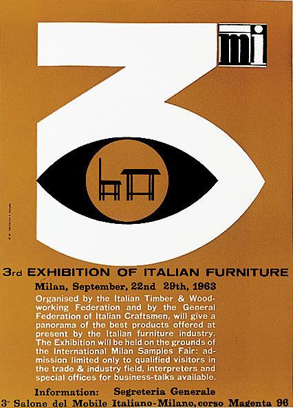 Salone Internazionale del Mobile 1963 Studio Becheroni-Marotta poster
