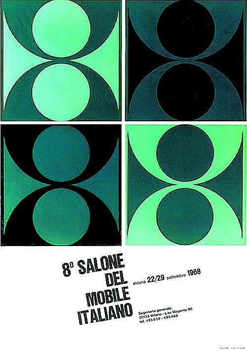 Salone Internazionale del Mobile 1968 Alberto Longhi poster