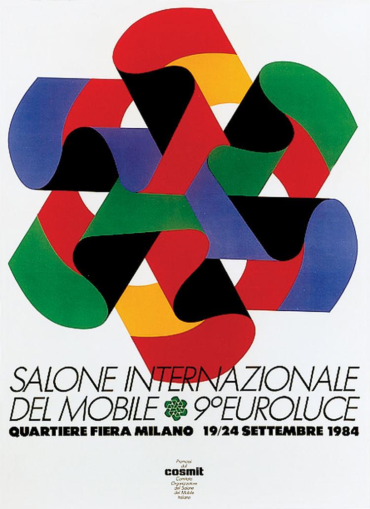 Salone Internazionale del Mobile 1984 Alberto Longhi poster