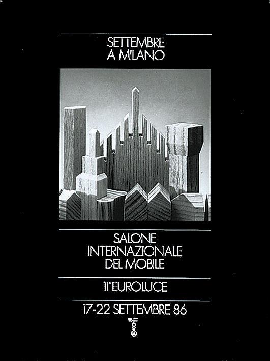 Salone Internazionale del Mobile 1986 Pierluigi Cerri poster
