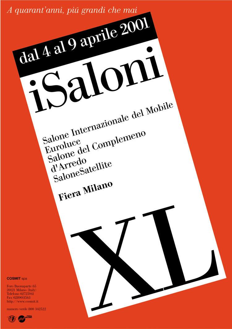 Salone Internazionale del Mobile 2001 poster