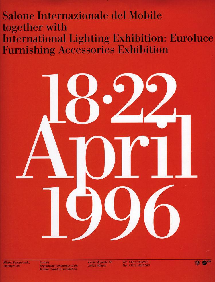Salone Internazionale del Mobile 1996 poster