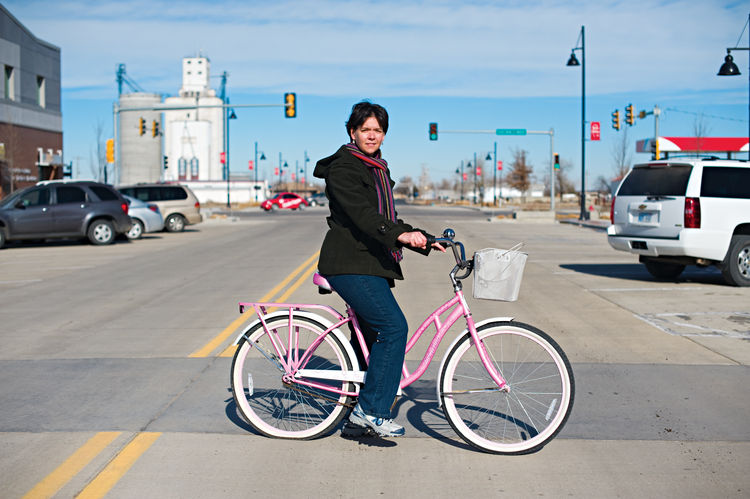 Resident Kari Kyle on a Greensburg, Kansas road
