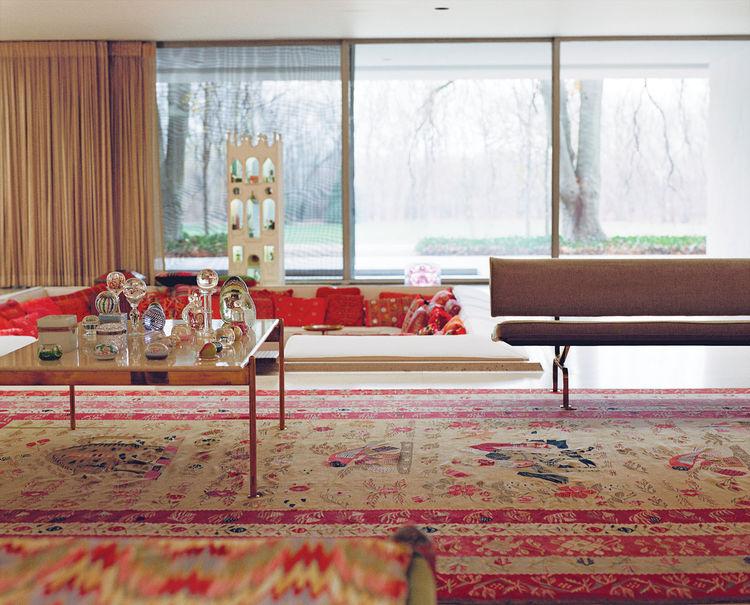 Miller House main living room