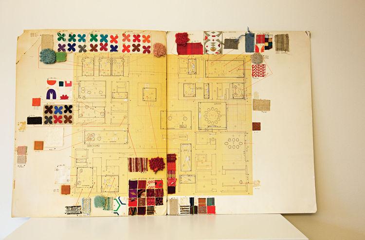 Miller House original textile master plan