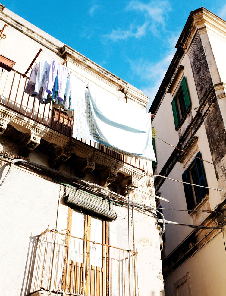 Old fashioned neighborhood in Syracuse Italy