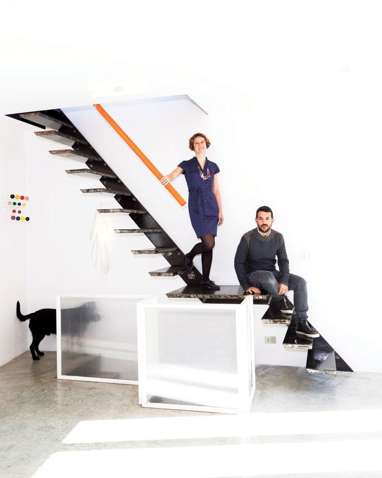 Francesco Moncada and Mafalda Rangel at home in their Syracuse home